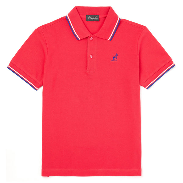 Mens Twin Tipped Stretch Pique Polo - Made in Italy