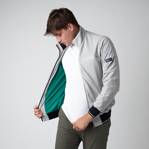 MEN'S COTTON PIQUE JACKET