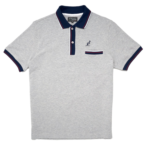 Men's Twin Tipped Pique Polo With Pocket