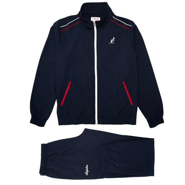 Men's Navy Blue Sport Tracksuit With Shoulder Stripes | Australian L'Alpina Sportswear