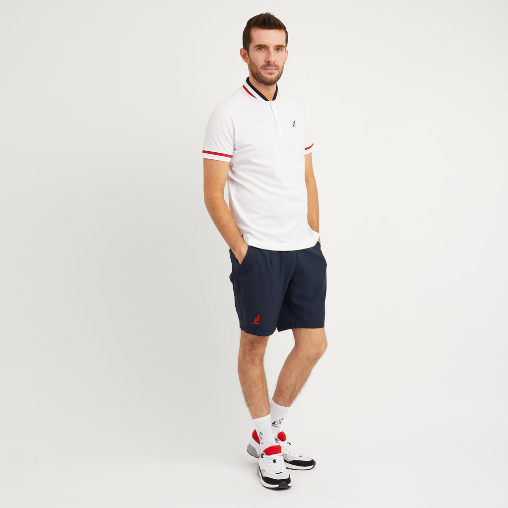 Technical Sports Short With Contrast Top Stitching