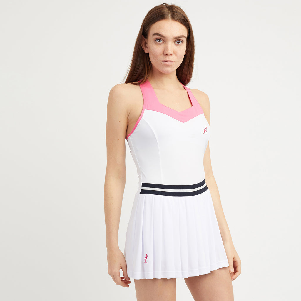 Womens Pleated Tennis Skirt With Integrated Shorts And Ball Pocket