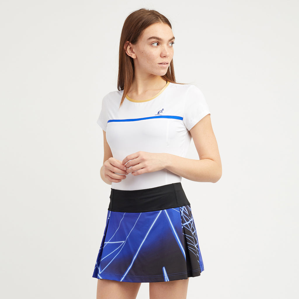 Graphic Printed Tennis Skirt With Intergrated Shorts
