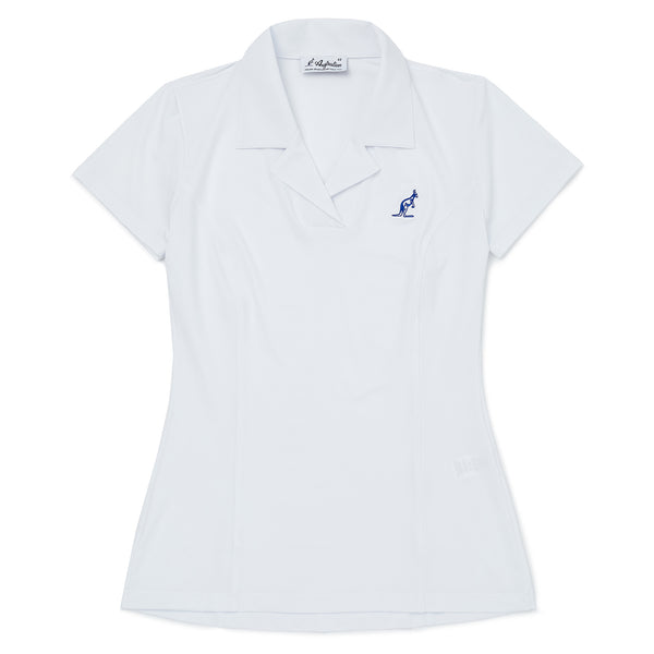Womens Open Neck Polo Shirt