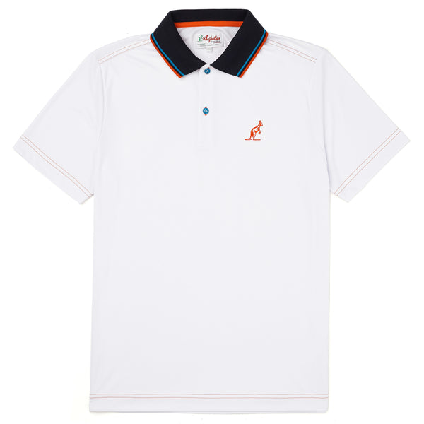 Technical Sports Polo With Knitted Twin Tipped Collar