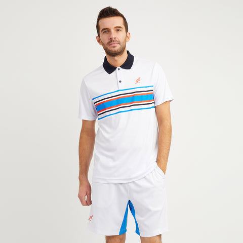 Technical Striped Polo