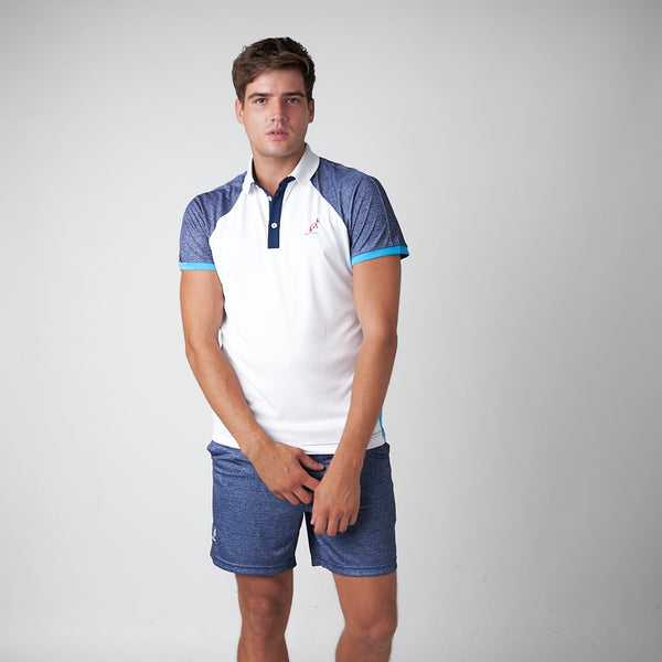 Men's Denim Print Sport Polo Shirt