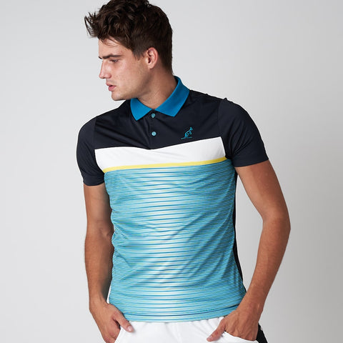 STRIPED SPORTS POLO SHIRT
