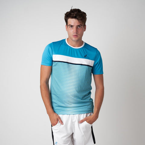 Men's Blue Stripe Sports T-Shirt | Australian L'Alpina