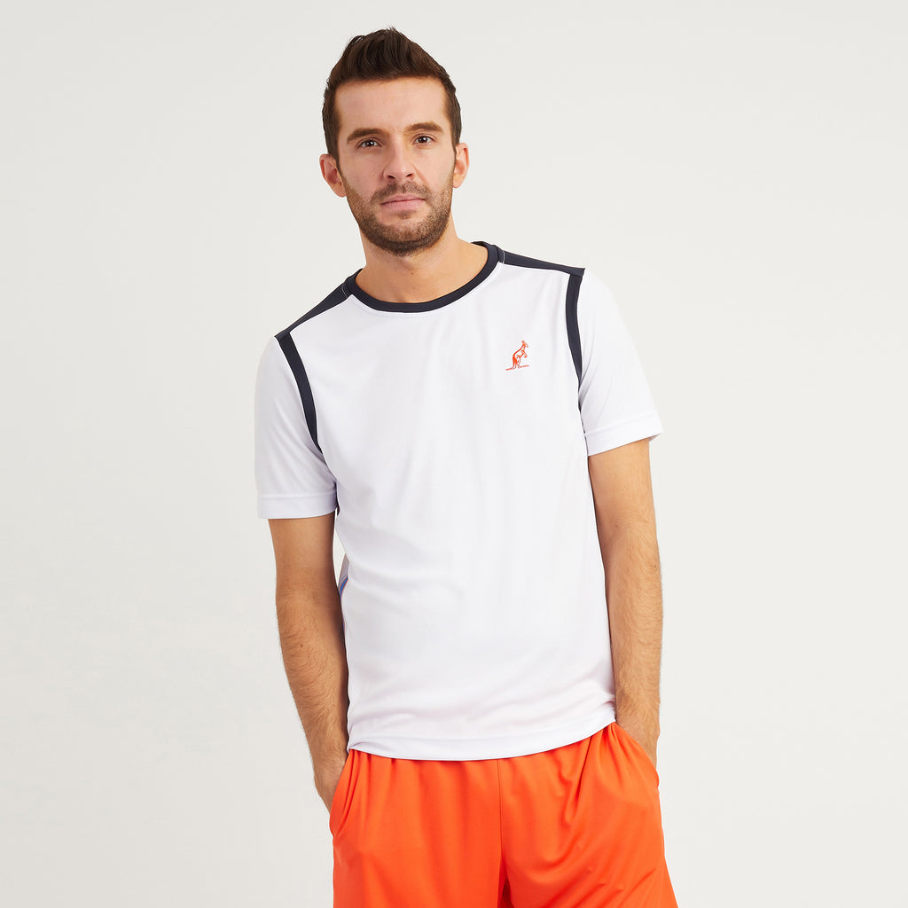 Technical T Shirt With Striped Side Panel