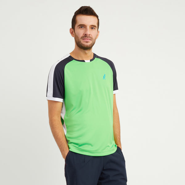 Technical Sports T Shirt With Contrast Sleeves