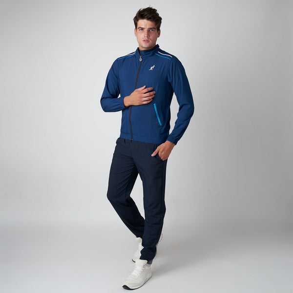 Men's Blue Sport Tracksuit With Shoulder Stripes | Australian L'Alpina Sportswear