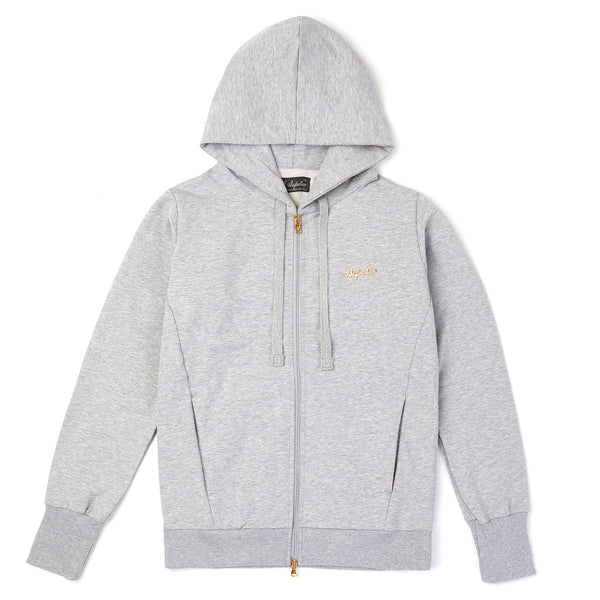 Womens Zip Thru Hooded Sweat