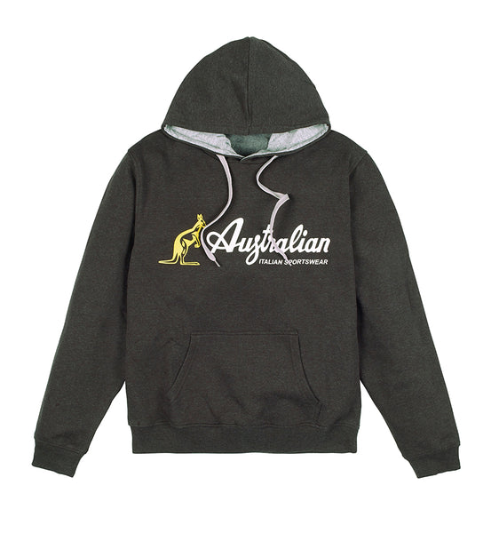 Mens Hooded Sweatshirt With Australian Logo