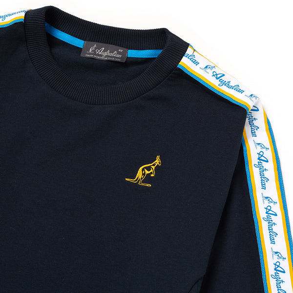 CREW NECK SWEATSHIRT WITH HERITAGE TAPING