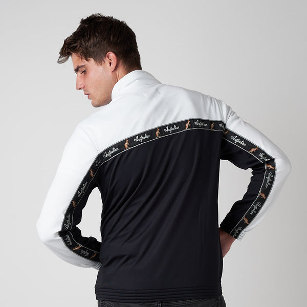 Classic Taped Track Jacket | White Black | Australian L'Alpina Streetwear