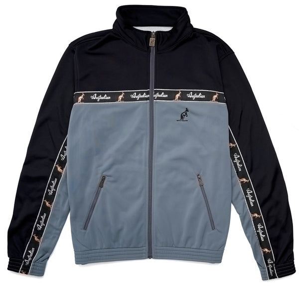 Classic Taped Track Jacket | Black Grey |Australian L'Alpina Streetwear
