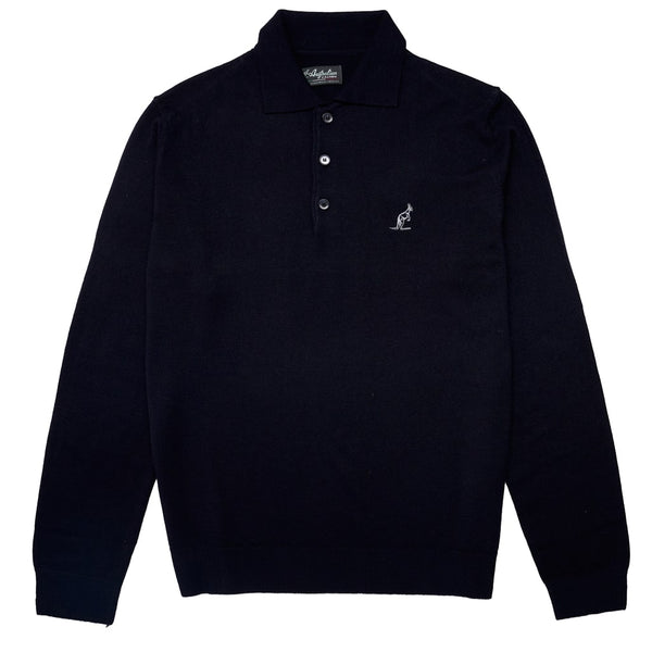 MEN'S KNITTED POLO WITH ELBOW PATCHES