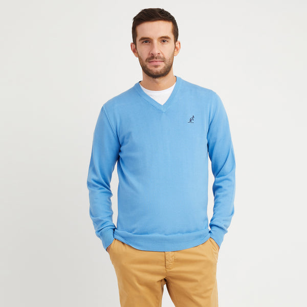 Fine Cotton V Neck Sweater