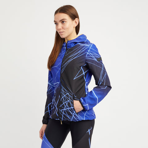 Women's Zip Thru High Neck Hooded Jacket