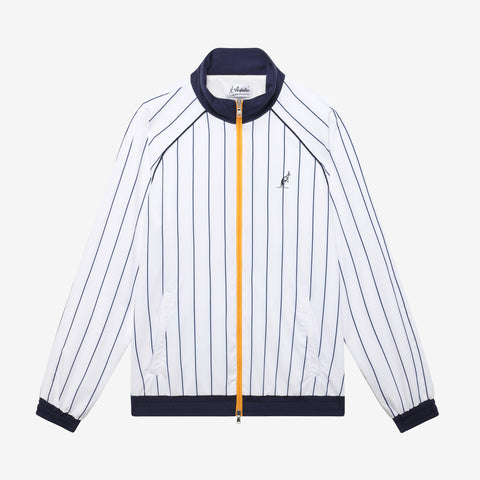 Women's Track Jacket - White Pinstiripe