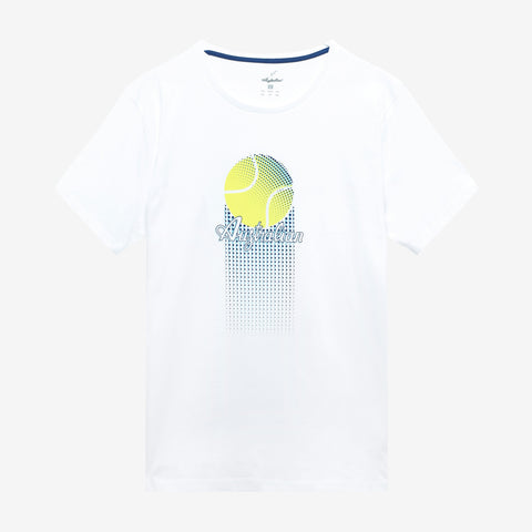 Men's Cotton Tennis Ball T-Shirt White - Australian L'Alpina