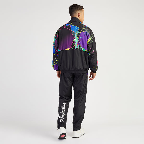 HARD COURT HALF PRINTED TRACK PANTS