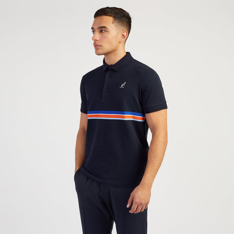 POLO SHIRT WITH SEWN ON CHEST STRIPE