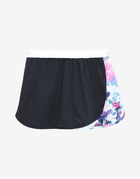 TENNIS SKORT WITH GEOMETRIC FLORAL