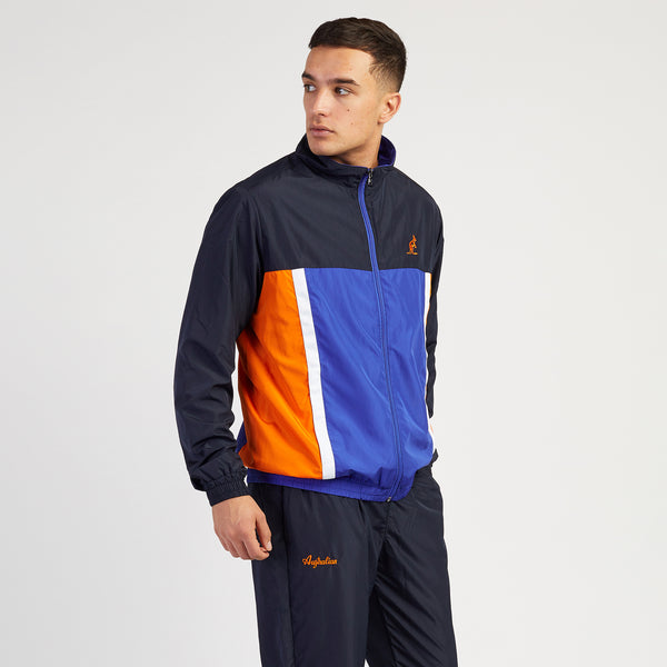 Men's Designer Tracksuits Navy Multi panel by Australian LAlpina