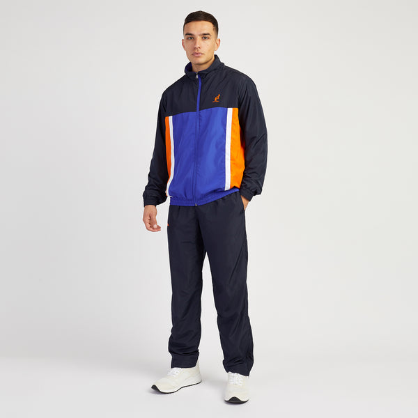 Men's Designer Tracksuits Navy Multi panel Small by Australian LAlpina