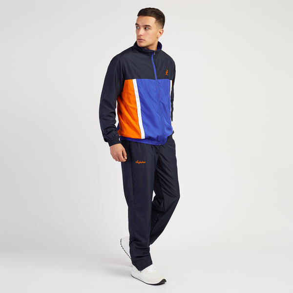 Men's Designer Tracksuits Navy Multi panel Medium by Australian LAlpina
