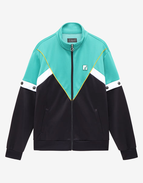 Track Jacket With Removeable Pop Off Sleeve