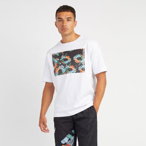 Hard Court T-shirt With Abstract Block Print
