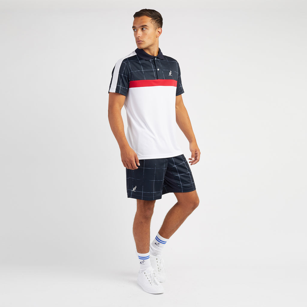 Mens Checked Technical Sports Shorts