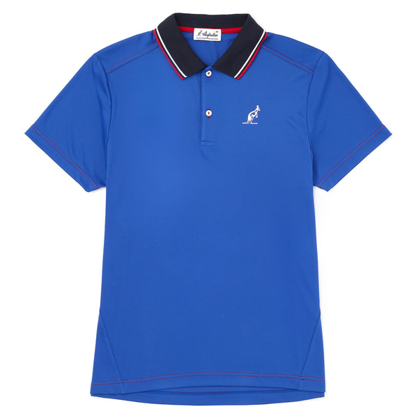 Technical Sports Polo With Knitted Twin Tipped Collar.