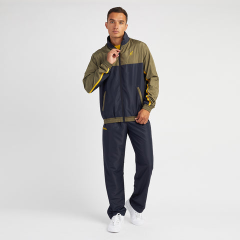 Tracksuit with Contrast Top Panel Khaki