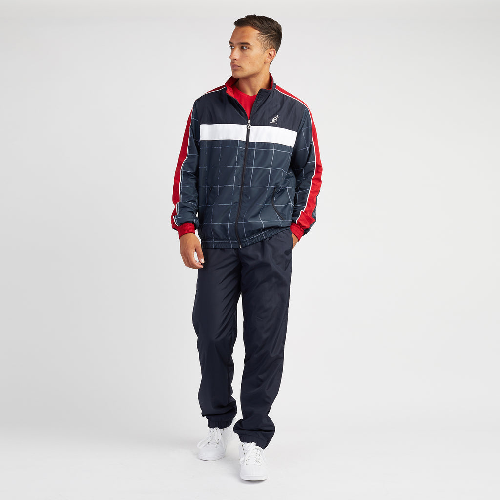 Mens Check Sports Technical Tracksuit