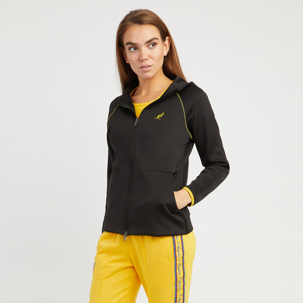 Womens Zip-thru Hooded Sports Jacket