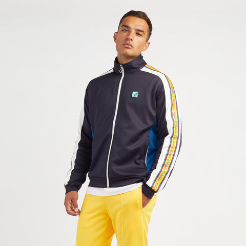 Mens Heritage Taped Zip thru Sports Track Jacket