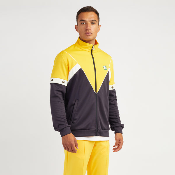 Mens Heritage Zip Up Sports Jacket with Pop Off Removable Sleeves