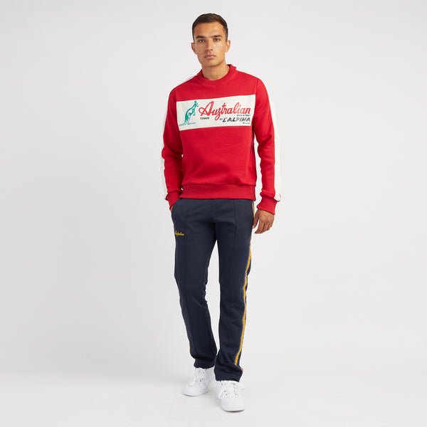 Crew Neck Block Sweatshirt