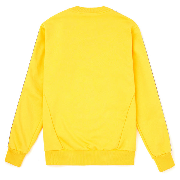 Men's Crewneck Sweatshirt with Vintage Taped Sleeves