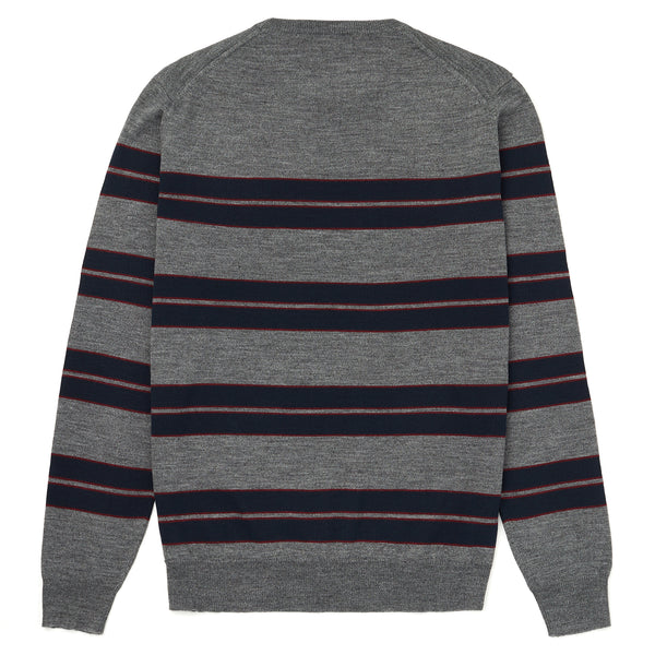 Knitted Crew Neck Stripe Jumper