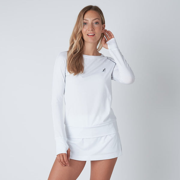 Women's White Tennis Skort