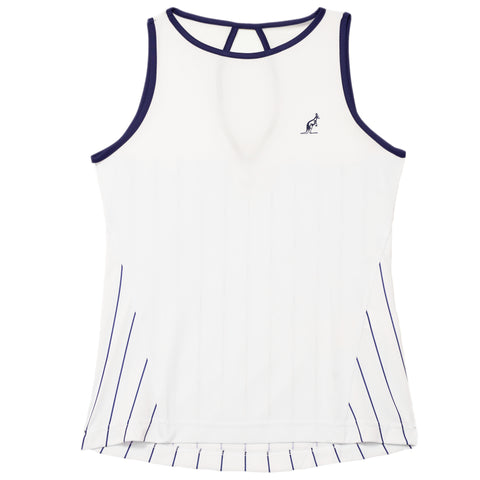 Women's White Mesh Tank Top Australian L'Alpina