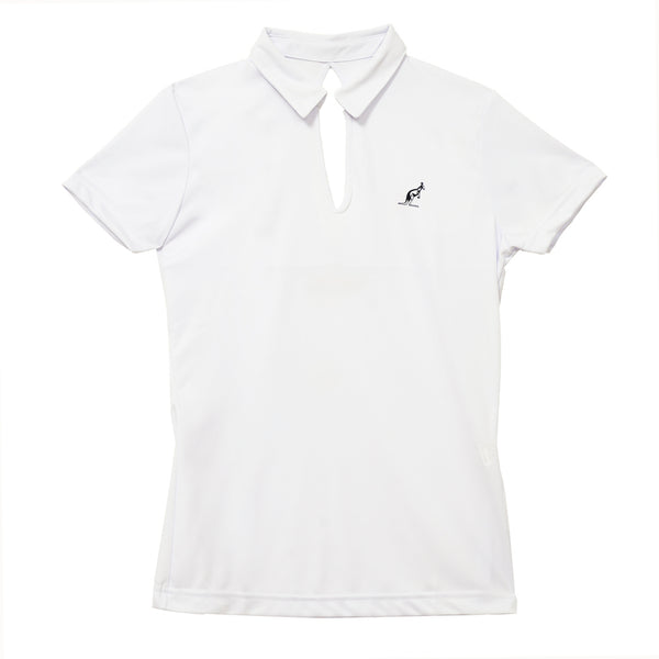Women's Polo Top With Open Back Design Australian L'Alpina