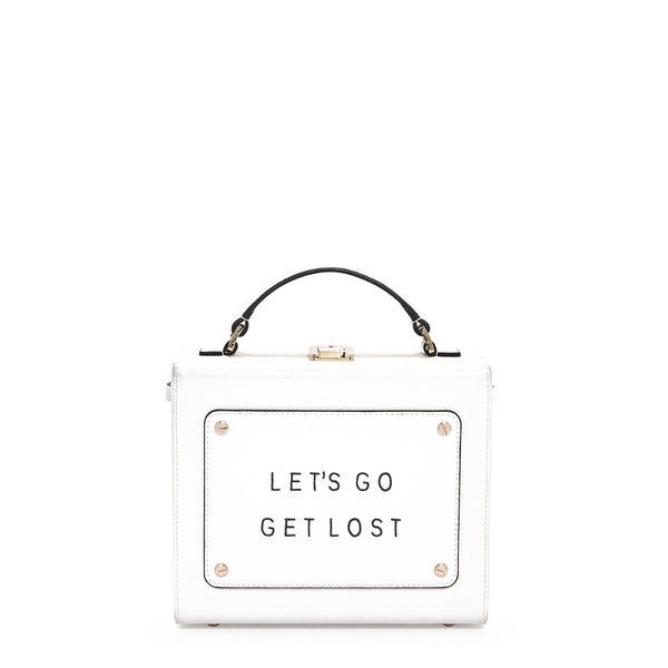 "Art Bag 艺术包 白色 ""Let's go get lost""- Olivia Steele"