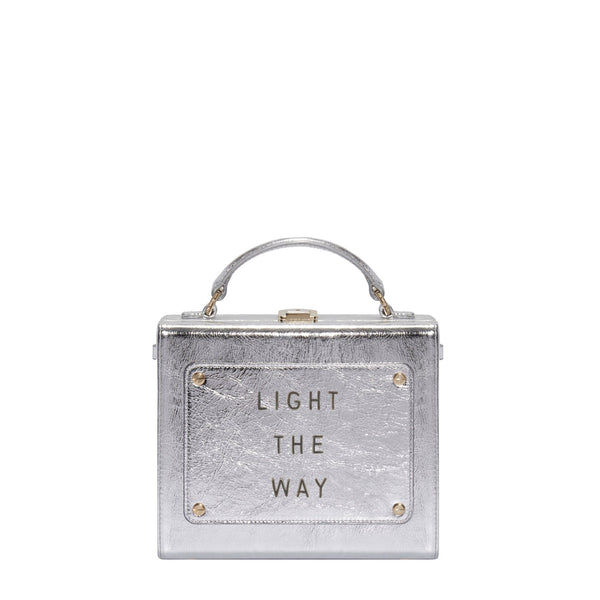 "Art Bag 艺术包 闪耀银 ""Light the way""- Olivia Steele"