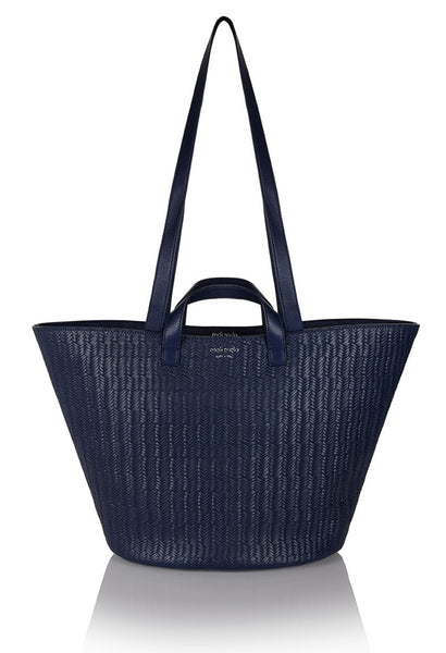 Rosalia Tote Bag Midnight Blue Woven